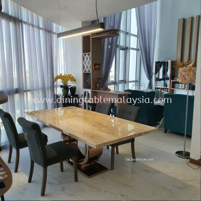 Luxury Dining Table | Nuvalato | 8 Seaters | Italian Marble
