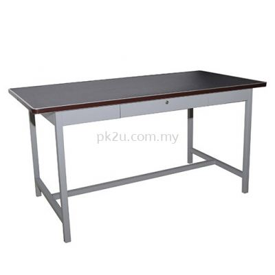 G1-MPD-4-LT-2 - 4' GENERAL PURPOSE TABLE WITH CENTER DRAWER (BLACK LINOLEUM TOP)