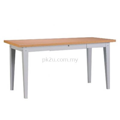 G2-MPD-4-MT-4 - 4 FOOT GENERAL PURPOSE TABLE WITH CENTER DRAWER (MELAMINE TOP)