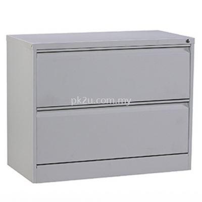 G2-LFC-1-2-GN - 2 DRAWERS LATERAL FILING CABINET