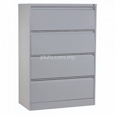 G2-LFC-1-4-GN - 4 DRAWERS LATERAL FILING CABINET