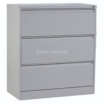 G2-LFC-1-3-GN - 3 DRAWERS LATERAL FILING CABINET