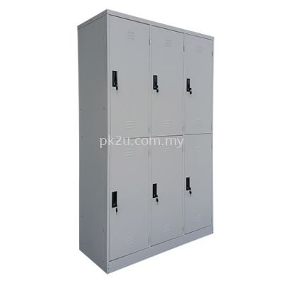 PK-SL-10-15-G1-6 COMPARTMENT STEEL LOCKER (15 INCH DEPTH)