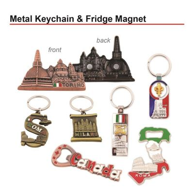 Metal Keychain & Fridge Magnet