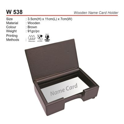 W 538 Wooden Name Card Holder