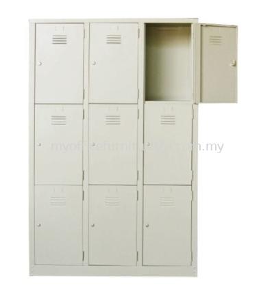 S105/AS Steel Locker 9 Compartments (Light Grey)