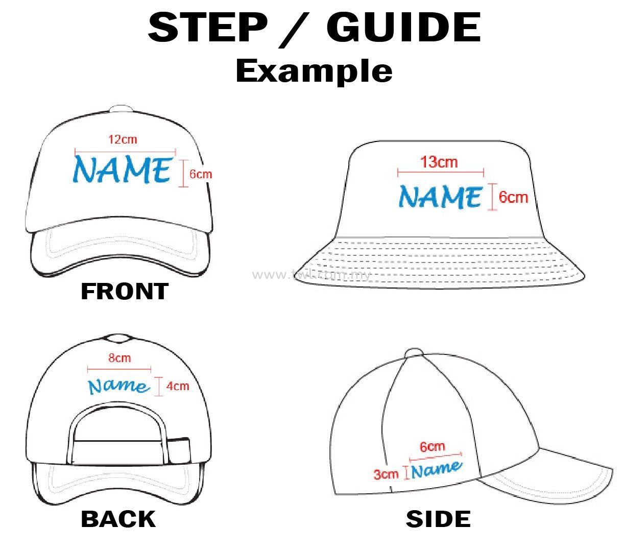 STEP Customise Personal Cap/Hat (CM)