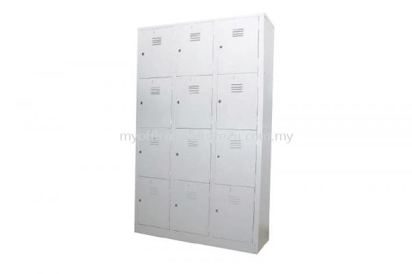 S108/AS Steel Multiple Locker 12 Compartments (Light Grey)