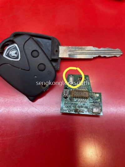 Car remote control repair and rrplace button
