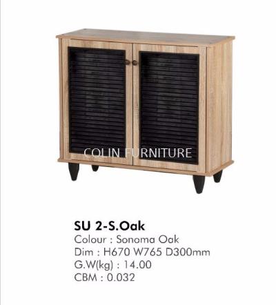 SUI2 S.OAK 2door Shoe cabinet