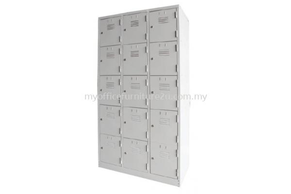 S126/A Steel Multiple Locker 15 Compartments (Light Grey)