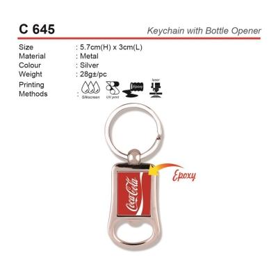 C 645 Keychain with Bottle Opener