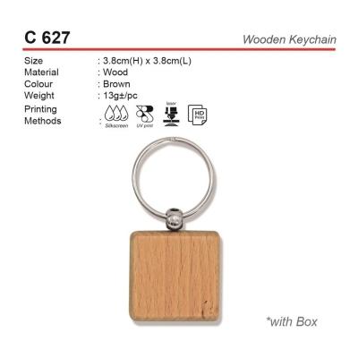 C 627 Wooden Keychain
