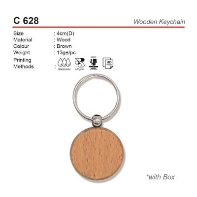 C 628 Wooden Keychain