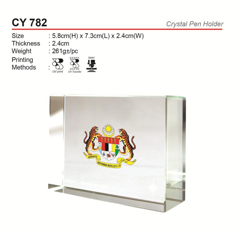 CY 782 Crystal Pen Holder