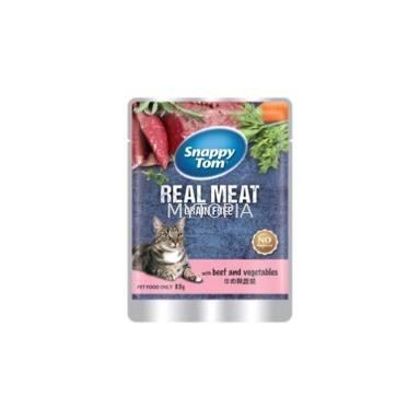 SNAPPY TOM POUCH BEEF WITH VEGETABLES 85G