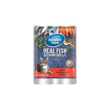 SNAPPY TOM POUCH TUNA WITH SHRIMP IN JELLY 85G
