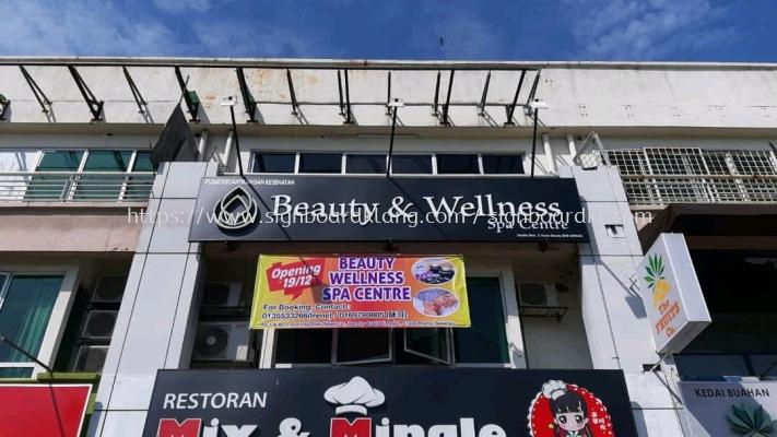 beauty & welless 3d led frontlit logo signage signbaord at klang kuala lumpur