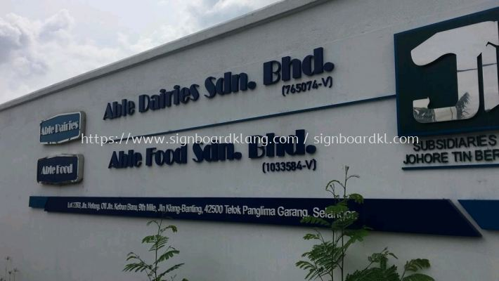 albe food 3d pvc cut out lettering signage signbaord at teluk panglima
