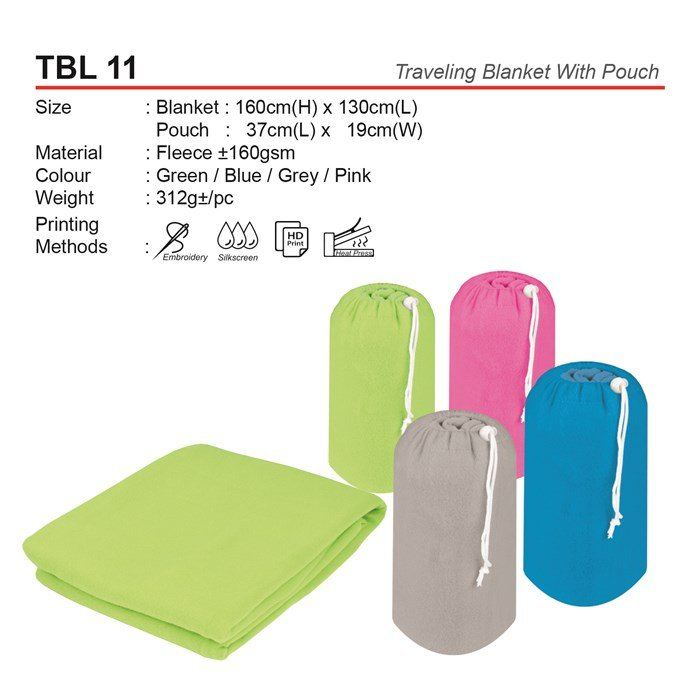 TBL 11 Traveling Blanket With Pouch