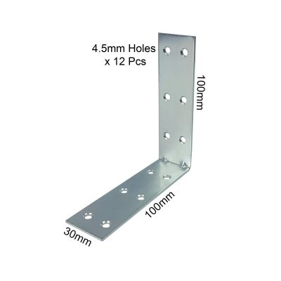 L Bracket with With 12 x M4 Holes