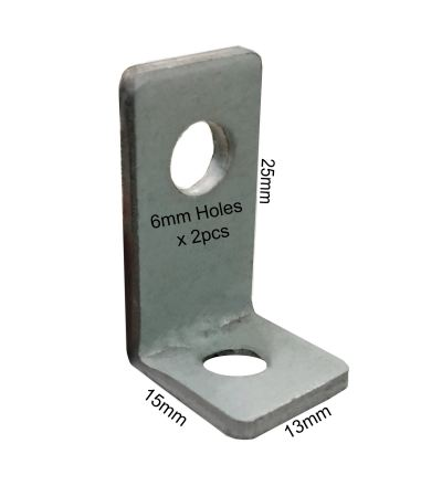 L Bracket Come With 2 x M6 Holes