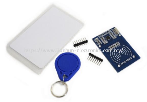 RFID Mifare RC522 Card Reader & Writer Module  with Mifare Card & Keychain Tag