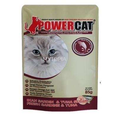 POWER CAT POUCH 85G -SARDINE & TUNA