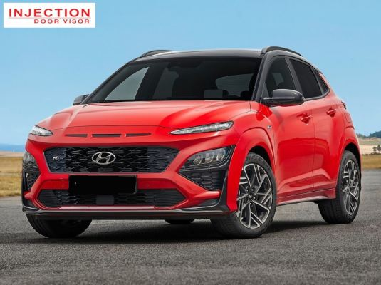 HYUNDAI KONA 21Y-ABOVE = INJECTION DOOR VISOR WITH STAINLESS STEEL LINING