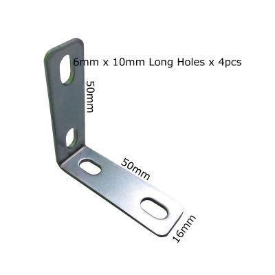 L Bracket With 4 Long Holes