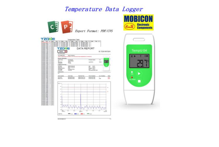 TEMPU04 TZONE USB TEMPERATURE DATA LOGGER