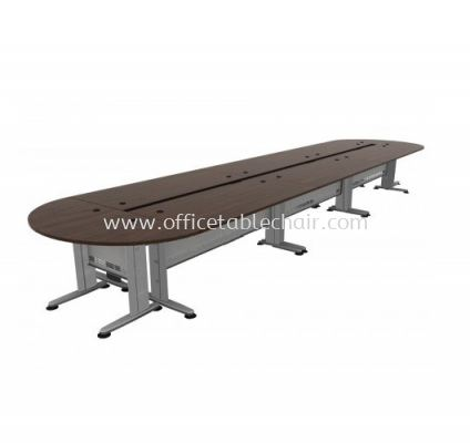 """QAMAR COMBINATION OVAL SHAPE CONFERENCE OFFICE TABLE WITH METAL """"J"""" LEG"""