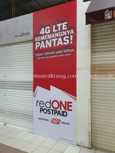 red one wallpaper sticker printing signage signbaord