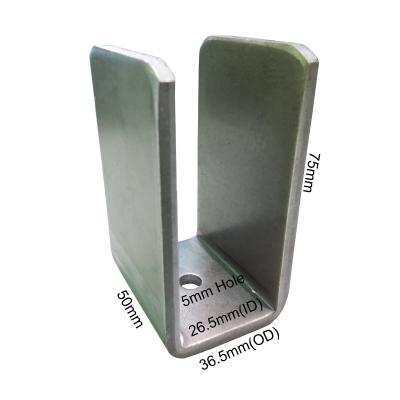 'U' Bracket With 5mm Hole - 36.5mm