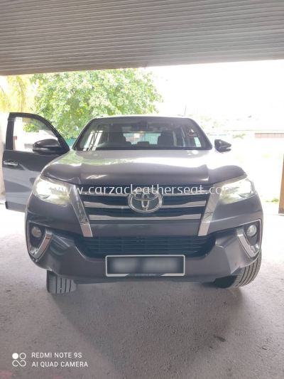 TOYOTA FORTUNER SEAT REPLACE SYNTHETIC LEATHER
