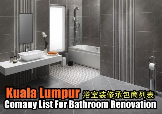 Company list For Bathroom Renovation Kuala Lumpur