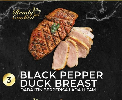 READY COOKED BLACK PEPPER DUCK BREAST