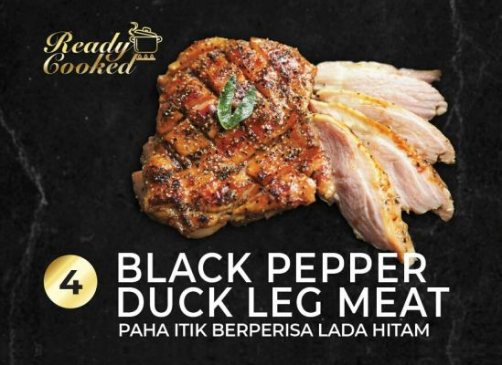 READY COOKED BLACK PEPPER DUCK LEG MEAT