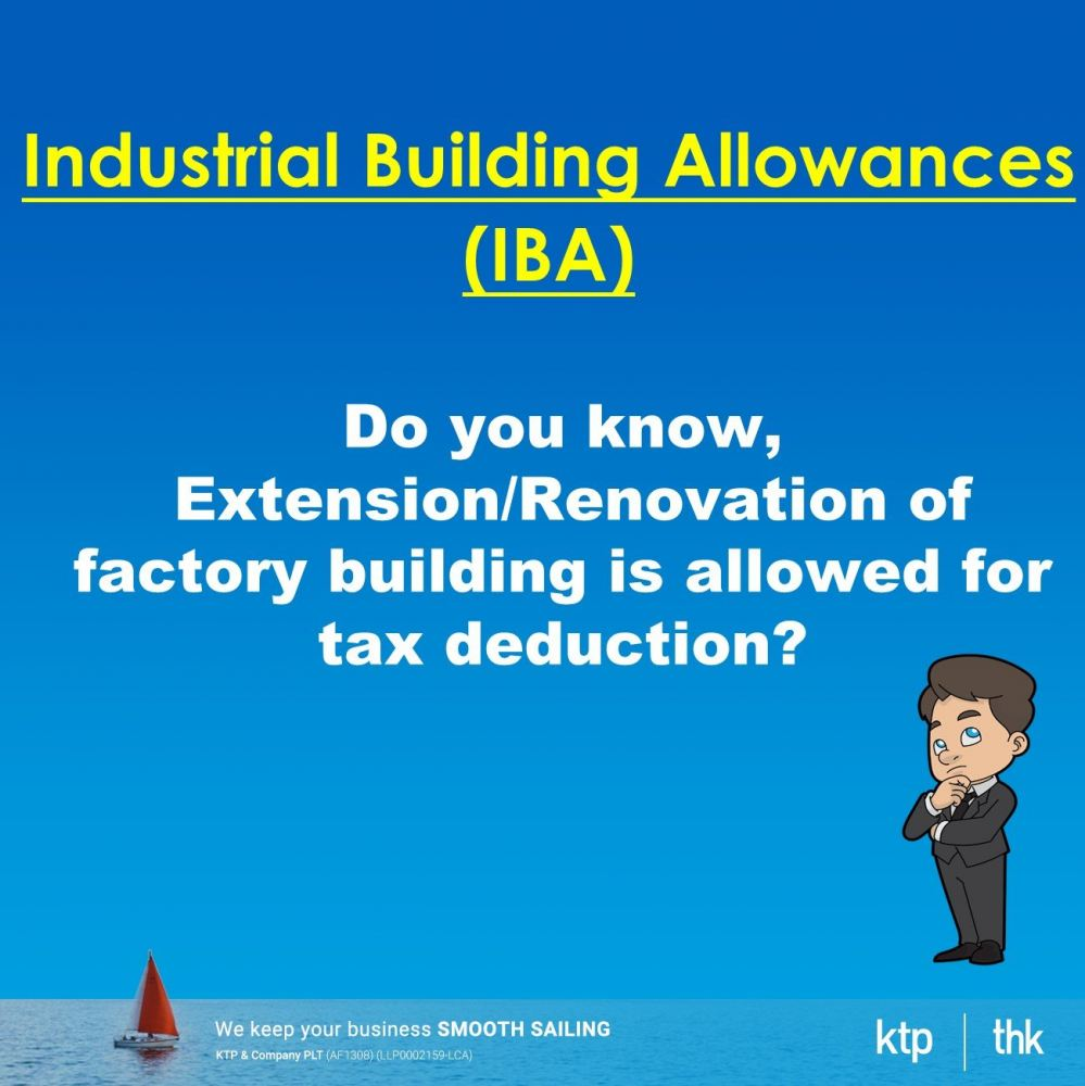 Extension/Renovation of factory building is allowed for tax deduction?