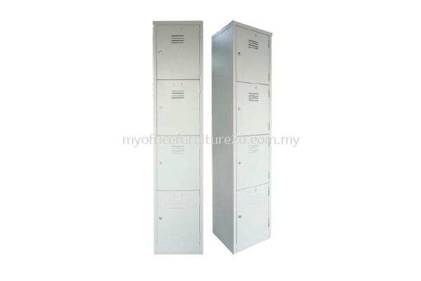 S114/B Steel Locker 4 Compartments (Light Grey)