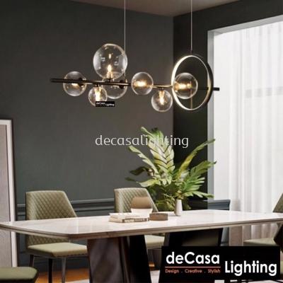 Modern Designer 7 Bubble Pendant Light with LED Ring