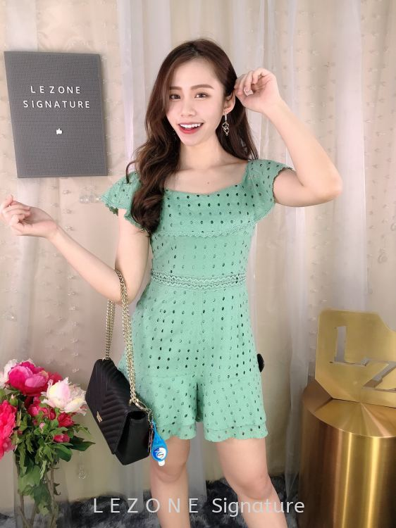 23536 Laced Two-way Type Romper