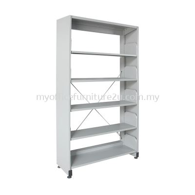 S315 Library Rack Single Sided with Side Panel 5 Level (Light Grey)