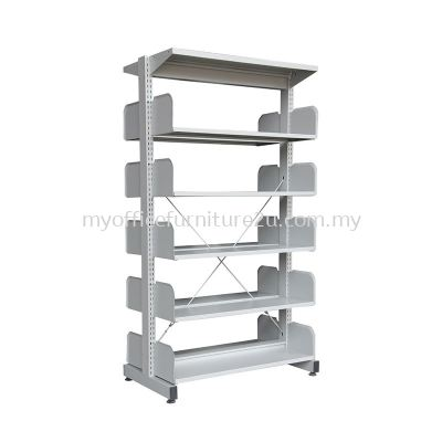 S325W Library Rack Double Sided without Side Panel 5 Level (Light Grey)