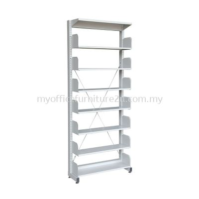 S317W Library Rack Single Sided without Side Panel 7 Level (Light Grey)