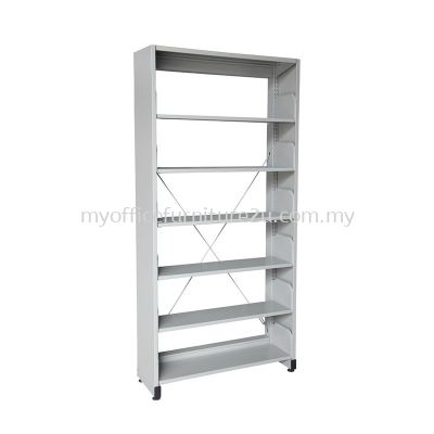 S316 Library Rack Single Sided with Side Panel 6 Level (Light Grey)