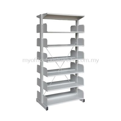 S326W Library Rack Double Sided without Side Panel 6 Level (Light Grey)
