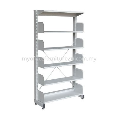 S315W Library Rack Single Sided with Side Panel 5 Level (Light Grey)