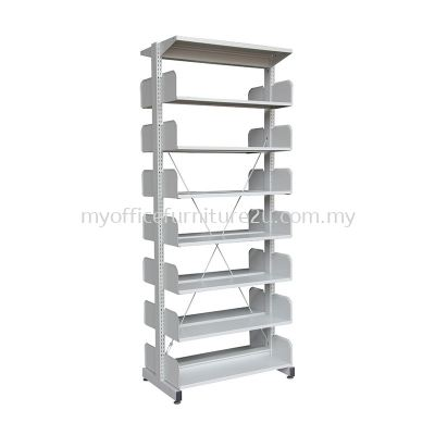 S327W Library Rack Double Sided without Side Panel 7 Level (Light Grey)