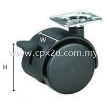 Twin Wheel Castor